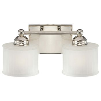 "Minka Lavery 1730 Series 2-Light 15"" Bathroom Vanity Light in Polished Nickel"