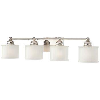 "Minka Lavery 1730 Series 4-Light 33"" Bathroom Vanity Light in Polished Nickel"
