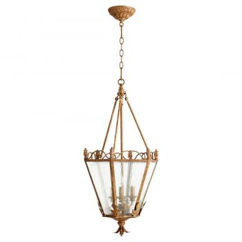 "Quorum Salento 15"" 3-Light Entry Chandelier in French Umber"