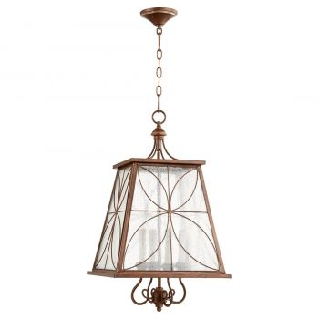 "Quorum Salento 15.25"" 4-Light Entry Chandelier in Vintage Copper"