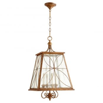 "Quorum Salento 15.25"" 4-Light Entry Chandelier in French Umber"