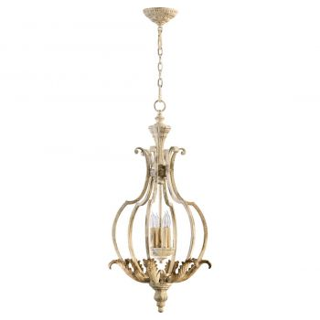 "Quorum Florence 17"" 4-Light Entry Chandelier in Persian White"