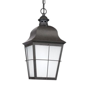 "Sea Gull Lighting Chatham 9.25"" Outdoor Pendant in Oxidized Bronze"