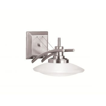 """Kichler Structures 1-Light 7.5"""" Wall Bracket in Brushed Nickel"""