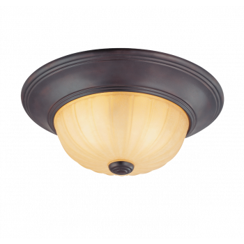 Savoy House Traditional Flush Mount Ceiling Light in English Bronze