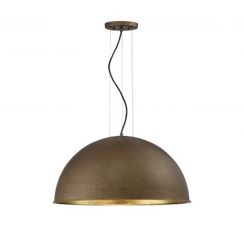 Savoy House Sommerton 3-Light Pendant in Rubbed Bronze w/ Gold Leaf