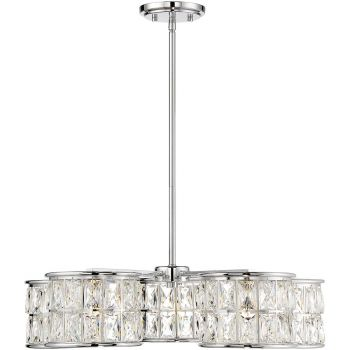 "Savoy House Citrine 24.75"" 5-Light Pendant in Polished Chrome"