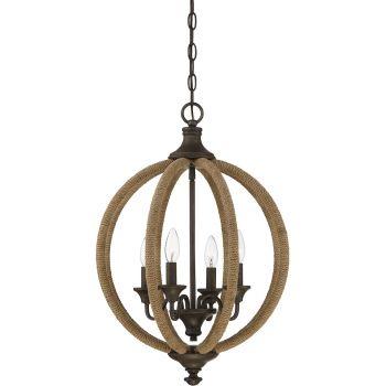 "Savoy House Findlay 17"" 4-Light Pendant in Artisan Rust"