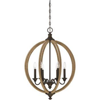 "Savoy House Findlay 22"" 6-Light Pendant in Artisan Rust"