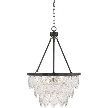 "Savoy House Granby 18"" 4-Light Pendant in English Bronze"