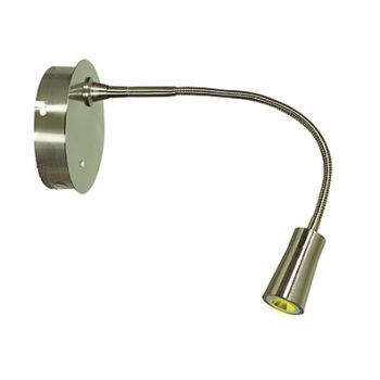 "Access Lighting Epiphanie 16"" Gooseneck Wall Lamp in Brushed Steel"