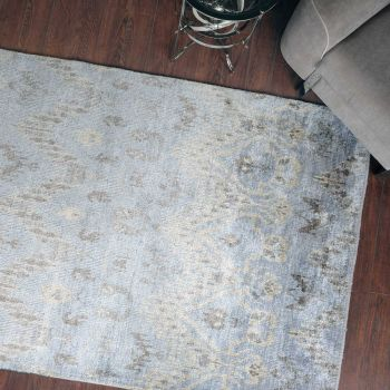 Uttermost Madeira 6 x 9 Bamboo Yarn Rug in Pale Blue/Gray