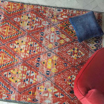 Uttermost Balgha 6 x 9 Wool Rug in Red/Blue/Yellow/Gray