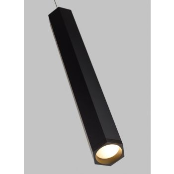 "Tech Lighting Blok 22.5"" LED 3000K Monopoint Pendant in Matte Black"