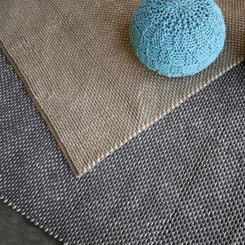 Uttermost Cordero 5 x 8 Indoor/Outdoor Rug in Dark Gray/Ivory
