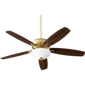 """Quorum Breeze 52"""" 2-Light Ceiling Fan in Aged Brass"""