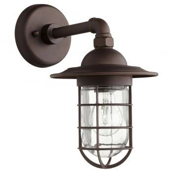 """Quorum Bowery 12.25"""" Outdoor Wall Sconce in Oiled Bronze"""
