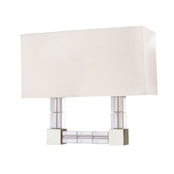Hudson Valley Alpine 2-Lt Wall Sconce in Polished Nickel
