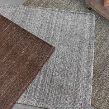 Uttermost Midas 5 x 8 Hand Woven Wool Rug in Warm Dark Gray