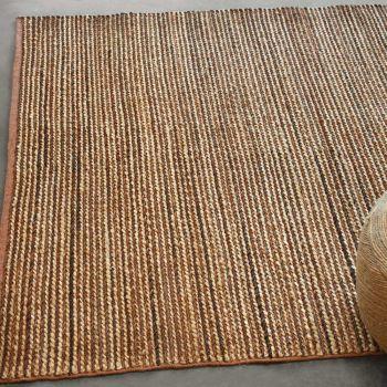Uttermost Zaguri 5 x 8 Braided Rug in Natural Hemp/Weathered Tan