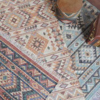 Uttermost Chaparral 5 x 8 Hand Woven Natural Hemp Rug in Rust Orange