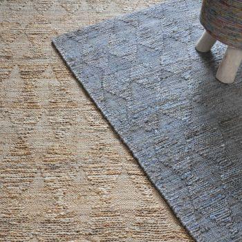 Uttermost Burma 5 x 8 Braided Argyle Pattern Hemp Rug in Slate Gray