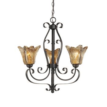 Millennium Lighting Chatsworth 3-Light Chandelier in Burnished Gold