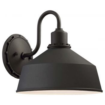 "The Great Outdoors Mantiel 10"" Outdoor Wall Light in Black"