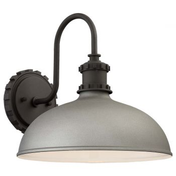 """The Great Outdoors Escudilla 12"""" Outdoor Wall Light in Sand Silver"""