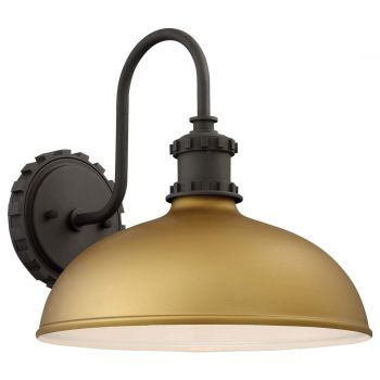 "The Great Outdoors Escudilla 12"" Outdoor Wall Light in Painted Honey Gold"