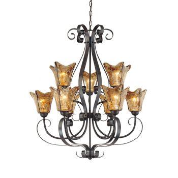 Millennium Lighting Chatsworth 9-Light Chandelier in Burnished Gold