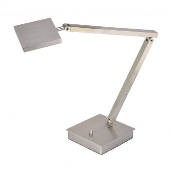 "Access Lighting TaskWerx 26"" Urban LED Table Lamp in Brushed Steel"