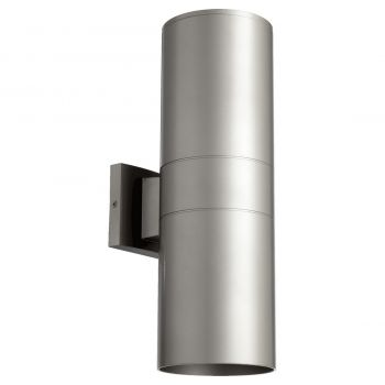 "Quorum International Cylinder 2-Light 17"" Outdoor Wall Light in Graphite"