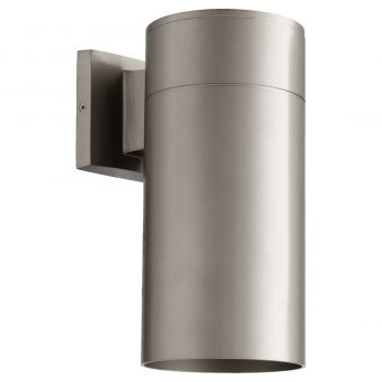 "Quorum International Cylinder 12"" Outdoor Wall Light in Graphite"