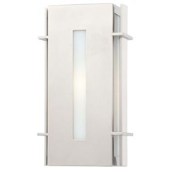 """The Great Outdoors Colva 12"""" Outdoor Wall Light in Brushed Stainless Steel"""