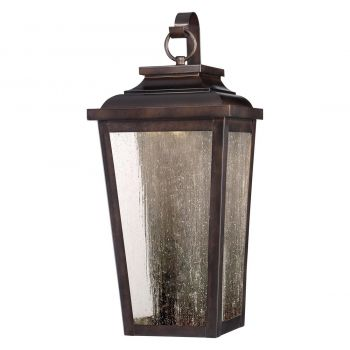"The Great Outdoors Irvington Manor Led 19"" Outdoor Wall Light in Chelesa Bronze"