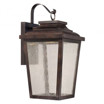 "The Great Outdoors Irvington Manor Led 21"" Outdoor Wall Light in Chelesa Bronze"