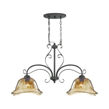 Millennium Lighting Chatsworth 2-Light Island in Burnished Gold