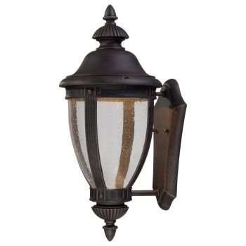 "The Great Outdoors Wynterfield 19"" Outdoor Wall Light in Burnt Rust"