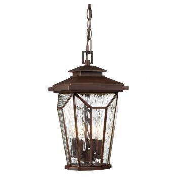 Minka Lavery Satomi 4-Light Outdoor Hanging Lantern in Alder Bronze