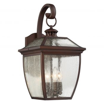 "The Great Outdoors Sunnybrook 4-Light 19"" Outdoor Wall Light in Alder Bronze"