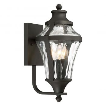 "The Great Outdoors Libre 3-Light 17"" Outdoor Wall Light in Black"