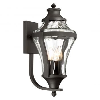 """The Great Outdoors Libre 4-Light 21"""" Outdoor Wall Light in Black"""