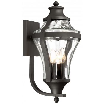 """The Great Outdoors Libre 4-Light 24"""" Outdoor Wall Light in Black"""
