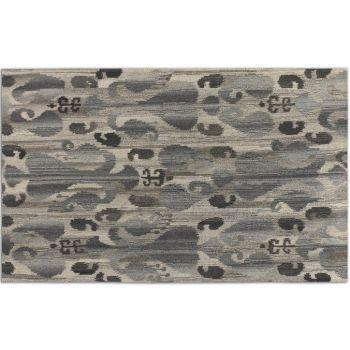 Uttermost Sepino 5 X 8 Ikat Design Wool Rug in Gray