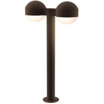 "Sonneman REALS 23.75"" 2-Light LED Bollard in Textured Bronze"