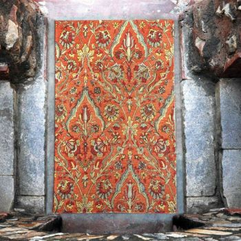 Uttermost Keziah 5 x 8 Rug in Terra Cotta Red/Pale Green/Yellow