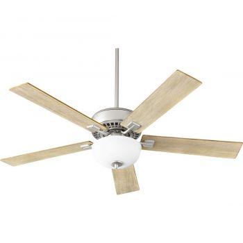 """Quorum Rothman 52"""" 2-Light Indoor Ceiling Fan in Satin Nickel"""