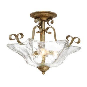 Millennium Lighting Chatsworth 3-Light Semi-Flush in Vintage Gold