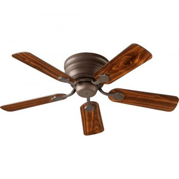"Quorum Barclay Hugger 44"" 5-Blade Ceiling Fan in Oiled Bronze"